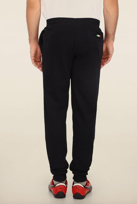 Puma Black Solid Sweat Track Pants