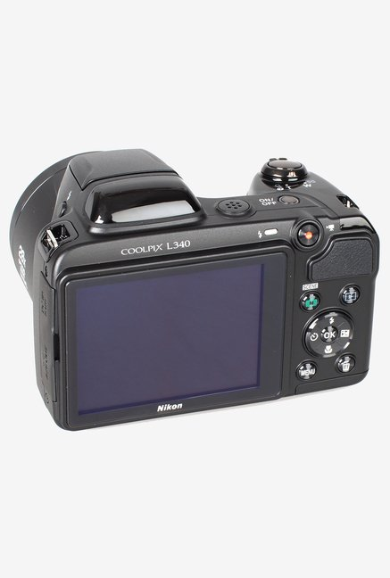 Nikon Coolpix L340 Point & Shoot Camera (Black)