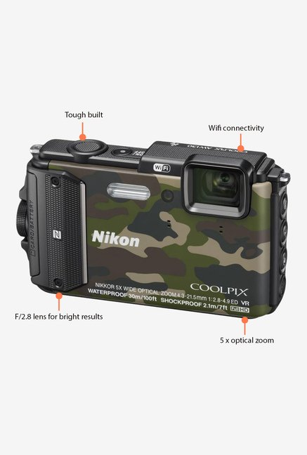 Nikon Coolpix AW130 Pont & Shoot Camera Camouflage