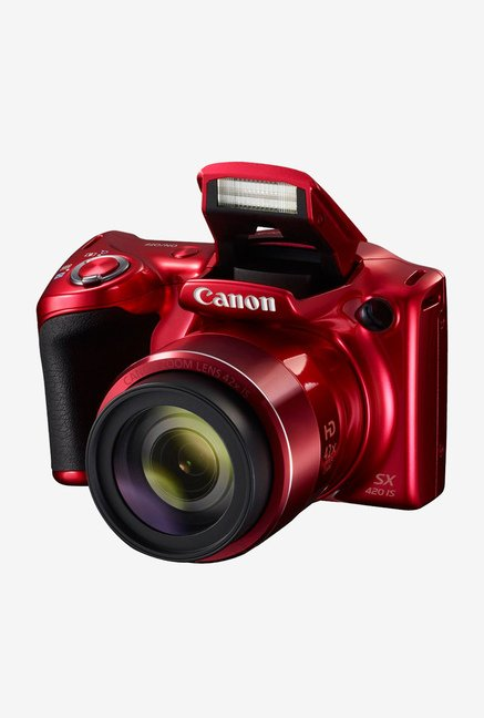 Canon PowerShot SX420 IS Point and Shoot Camera Red