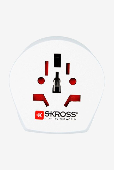 Skross 1.500215 Single Adapter White