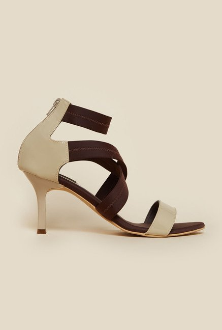 Metro Brown Cross Strap Stilettos