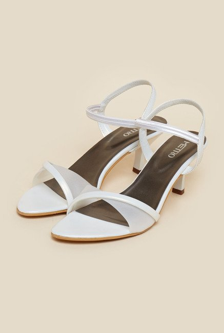 Metro White Stiletto Sandals