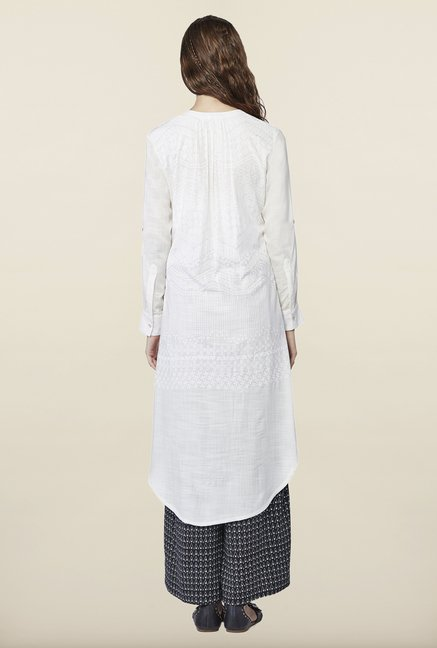 Global Desi Off White Printed Kurti