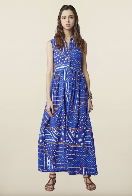 Global Desi Blue Maxi Dress