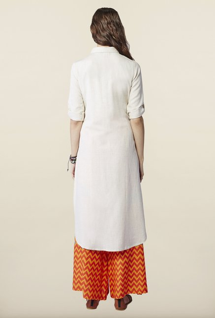 Global Desi Beige Solid Kurti