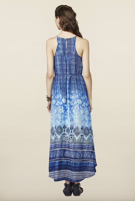 Global Desi Blue Ombre Midi Dress