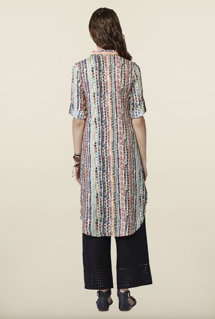 Global Desi Multicolor Printed Tunic