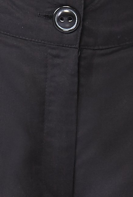 Global Desi Black Solid Trousers
