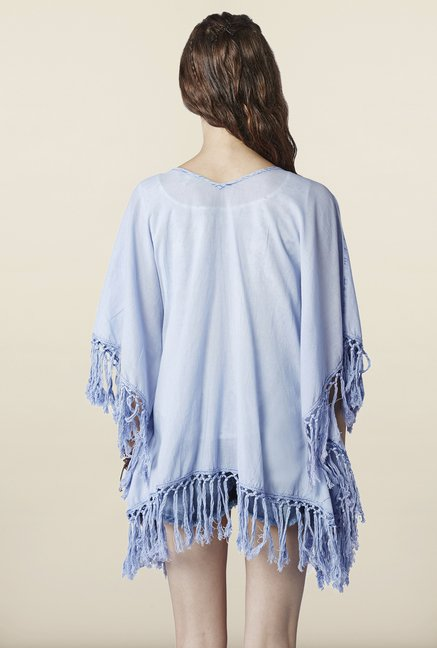 Global Desi Blue Solid Shrug