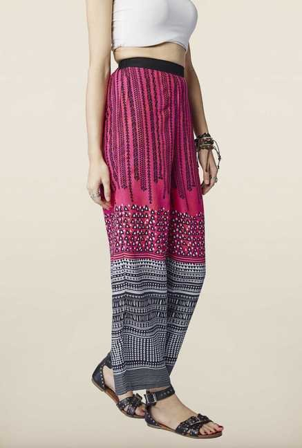 Global Desi Pink Tribal Printed Paloma Pants