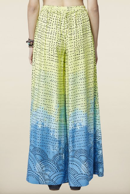 Global Desi Lime & Blue Ombre Palazzo