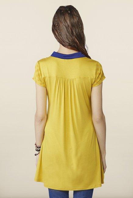 Global Desi Mustard Regular Fit Tunic