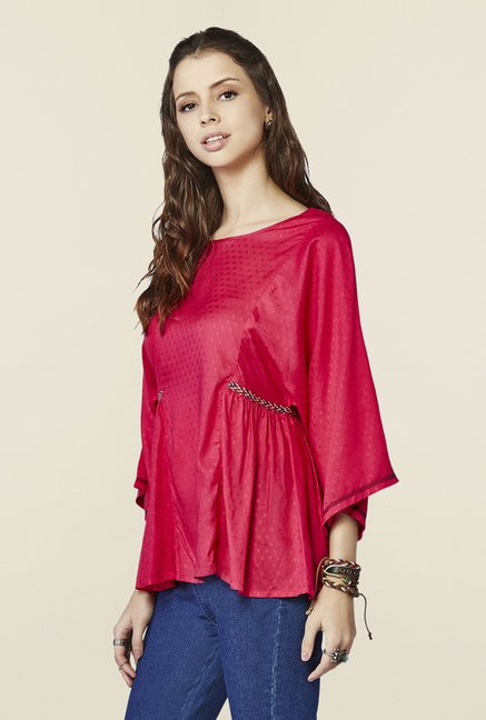 Global Desi Hot Pink Regular Fit Top