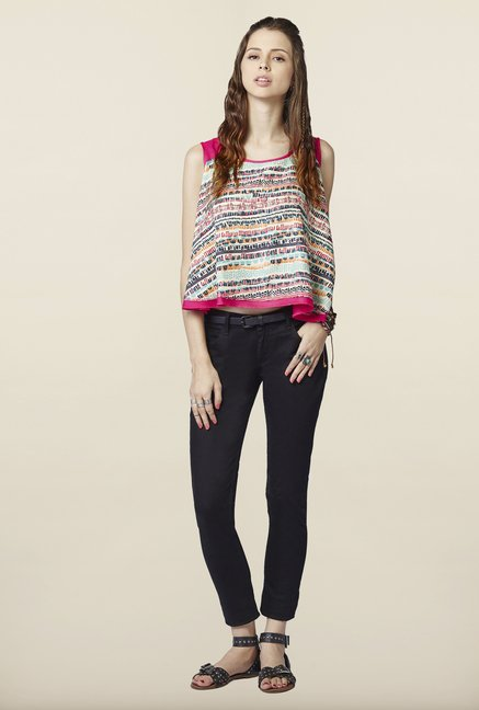 Global Desi Multicolor Sleeveless Top