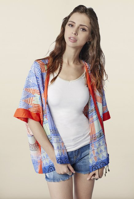 Global Desi Multicolor Printed Shrug