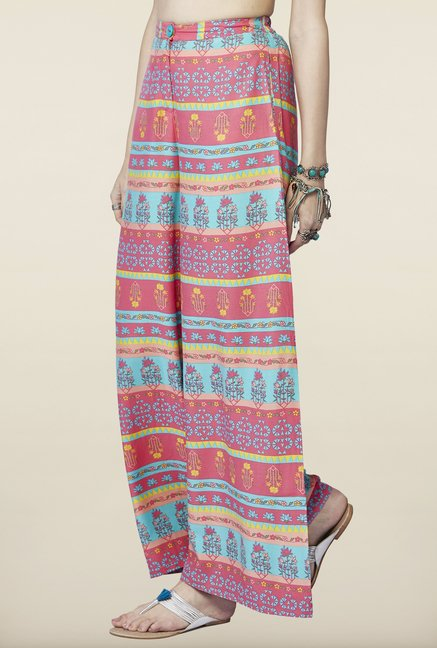 Global Desi Multicolor Printed Palazzo