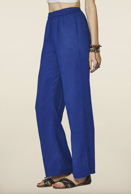 Global Desi Indigo Mid Rise Pants