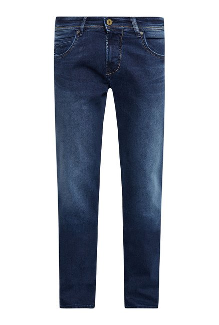 Easies Blue Lightly Washed Cotton Jeans