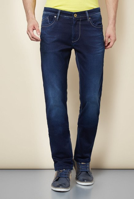 Easies Navy Cotton Jeans