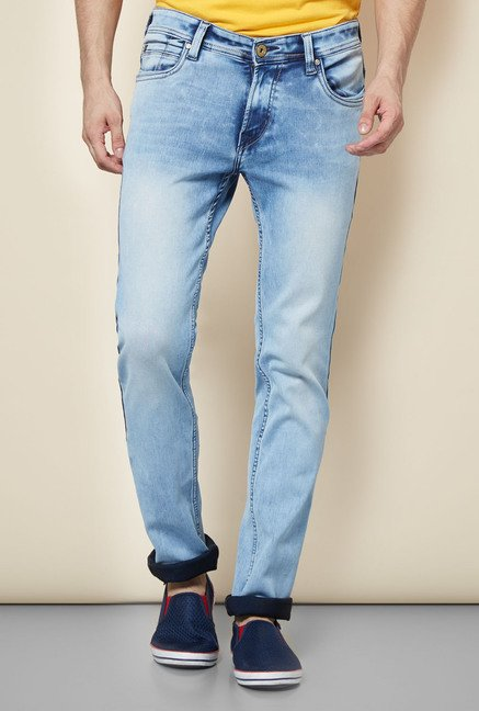 Easies Light Blue Lightly Washed Jeans