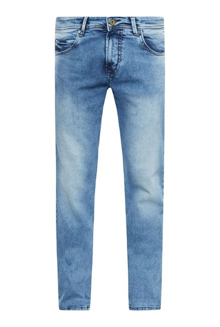 Easies Light Blue Cotton Jeans