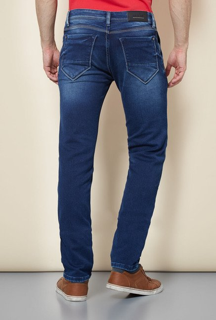 Easies Blue Cotton Jeans