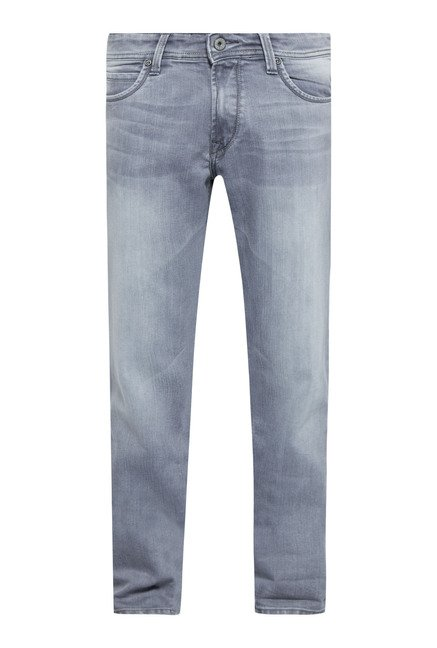 Easies Grey Cotton Jeans