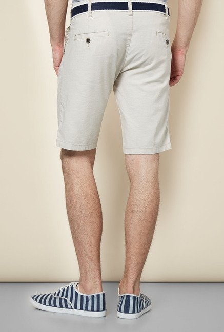 Easies Beige Solid Shorts