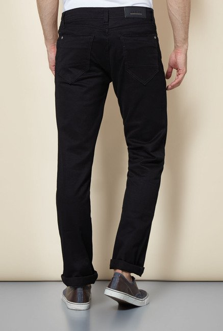 Easies Black Cotton Jeans
