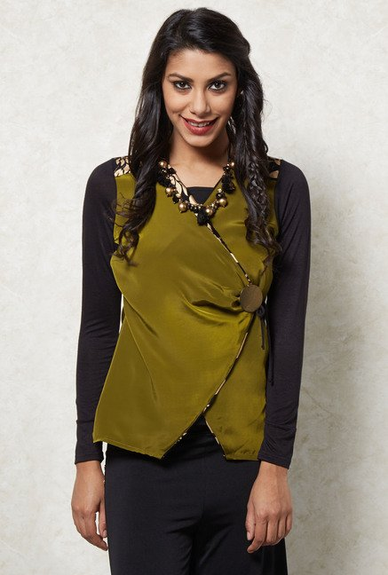 Ira Soleil Olive Solid Top