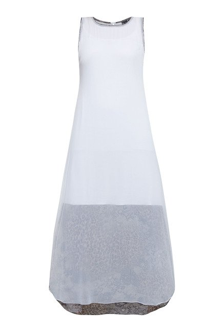 Ira Soleil White Solid Dress