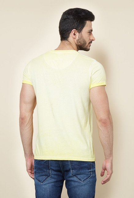 Easies Yellow Solid Casual T-Shirt