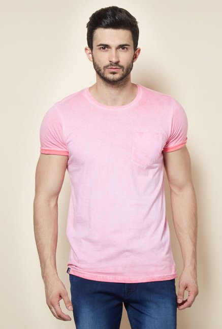 Easies Pink Solid Casual T-Shirt