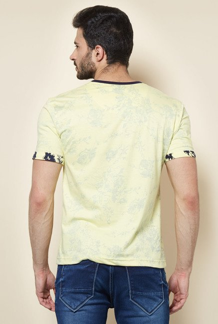 Easies Yellow Printed Casual T-Shirt