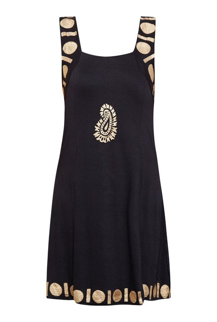 Ira Soleil Black Solid Dress