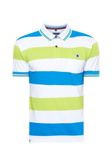 Easies Multicolored Striped Polo T-Shirt