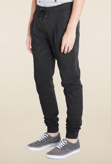 Parx Black Casual Trouser