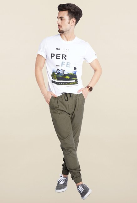 Parx Olive Casual Trouser