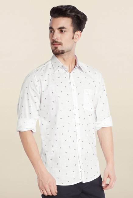 Parx White Casual Shirt