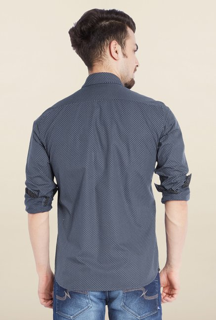 Parx Navy Casual Shirt