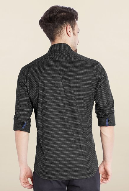 Parx Black Printed Shirt