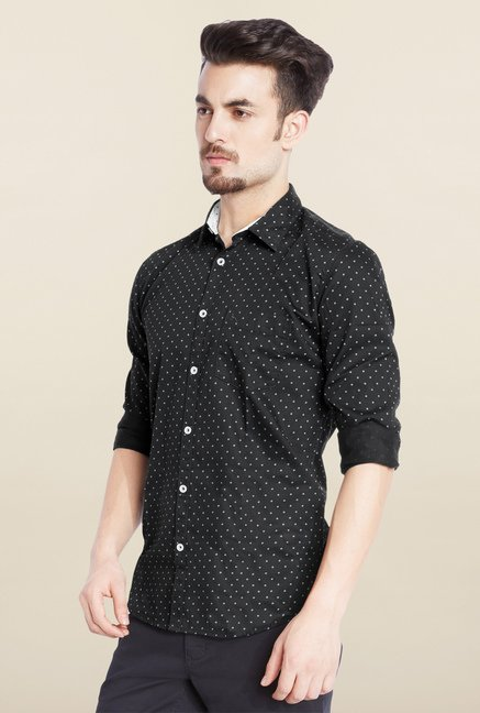 Parx Black Polka Dot Shirt