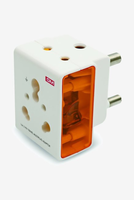 GM 3050 16A Multi Plug Adapter (White)