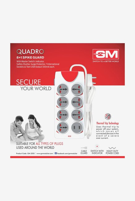 GM 3025 Quadro 8 + 1 Outlet Spike Guard