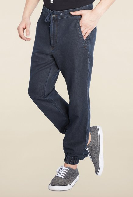 Parx Navy Raw Denim Comfort Fit Jeans