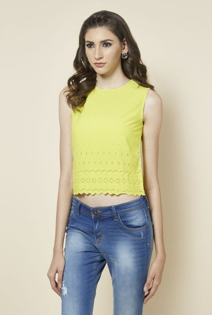 Zudio Lime Solid Blouse