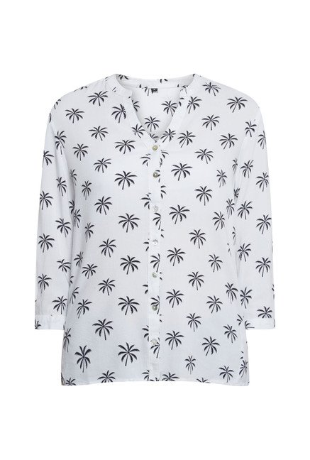 Zudio White Printed Blouse