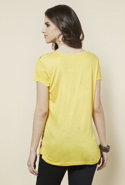 Zudio Yellow Printed Top