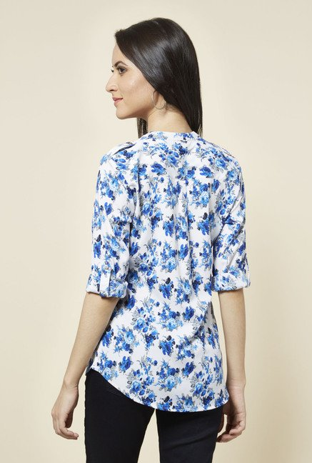 Zudio White Cora Printed Top